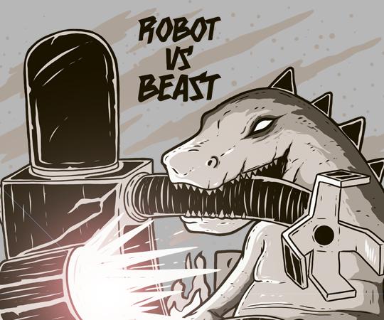 Robot vs Beast